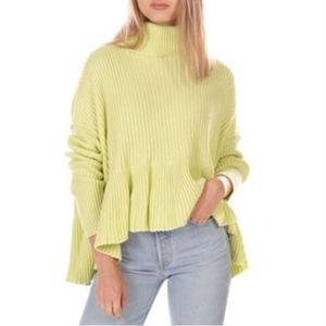 NWT FREE PEOPLE Layer Cake Sweater Key Lime